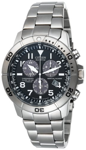 Citizen Men's Eco-Drive Titanium Perpetual Calendar Chronograph Watch #BL5250-53L