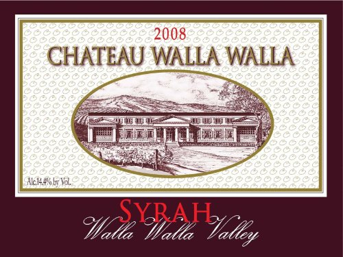 2008 Chateau Walla Walla Syrah Washington Wine Walla Walla Valley 750 Ml