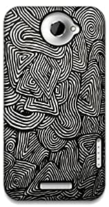 The Racoon Grip psychedelic pattern hard plastic printed back case / cover for HTC One X