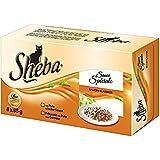 Sheba Sauce Speciale Katzenfutter Saucen-Klassiker, 32 Schalen (4 x 8 x 85 g)