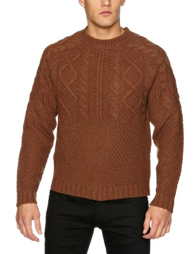 St Jude  Falmouth Men's Jumper Camel Large