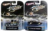 Smokey & the Bandit Hot Wheels Set - Kenworth Truck & Pontiac Firebird 2 Car Retro Entertainment 2013 Die Cast Burt Reynolds Movie Vehicle Replica