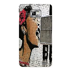 Special Girl Singing Wall Back Case Cover for Galaxy S2