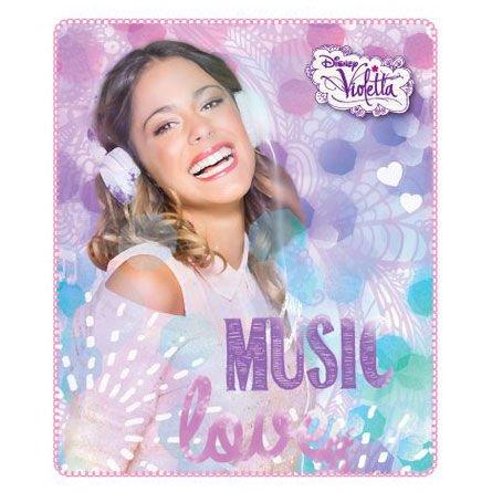Coperta Plaid in pile - Violetta - Music Love 120 x 140 cm