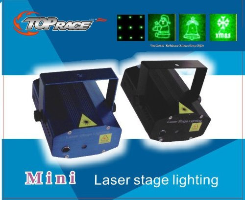Top Race® Christmas Pattern Led Mini Stage Light Laser Projector, Voice-Activated Version, Fda & Amazon Standards Laser Type: Class Iiir