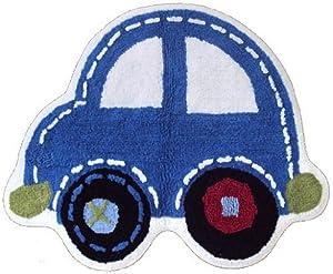Blue Car Shaped Rug Amazoncouk Kitchen Amp Home