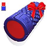 Muscle Foam Roller ✠ Revolutionary Textured Grid Exercises & Massages Muscles - Super High Density EVA Provides Deep Tissue Massage for Back, IT Band, Legs & Arms