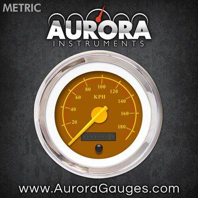 Aurora Instruments (GAR143ZMXHABCI) Omega Brown Speedometer Gauge