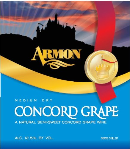 Nv Armon Medium Dry Concord New York Red Wine 1.5 L