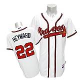 (マジェスティック)Majestic MLB ブレーブス #22 ジェーソン・ヘイワード Cool Base Authentic ユニフォーム (ホーム/ホワイト)