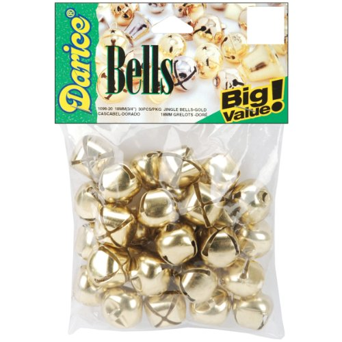 Darice 30-Piece Gold Bells, 0.5-Inch