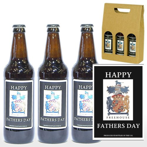 PERSONALISED 'Happy Fathers Day' Ale Gift Box - 3 x 500ml Yorkshire Ales with 'Happy Fathers Day' on the Labels in a Gift Box