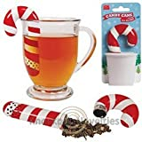 (USA Warehouse) Candy Cane Tea Infuser Drink Hot Brew Herbs Infuse Gift Teas Holiday Christmas -/PT# HF983-1754363258