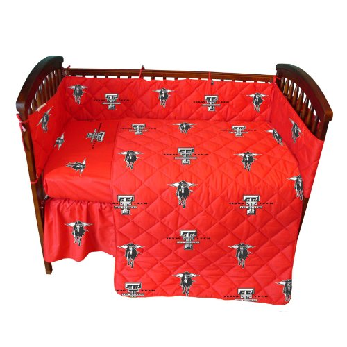 College Covers Texas Tech Red Raiders 5 piece Baby Crib Set