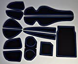 KINMEI(キンメイ) 新型ハリアー harrier 60系 青 専用設計 インテリア ドアポケット マット ドリンクホルダー 滑り止め ノンスリップ 収納スペース保護 トヨタ TOYOTAer-b
