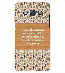 PrintDhaba Quote D-5723 Back Case Cover for SAMSUNG GALAXY E5 (Multi-Coloured)