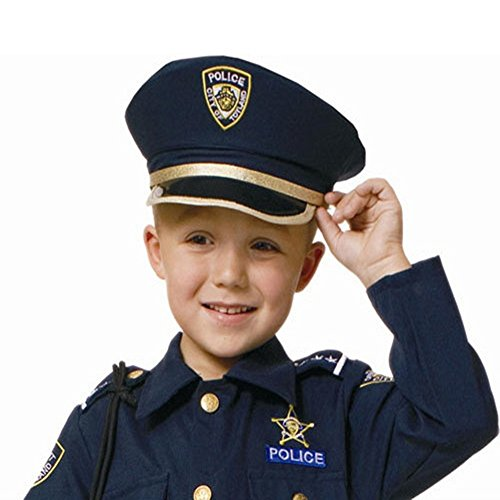 Dress Up America H226-PoliceHat Police Hat - Size Kids - 1