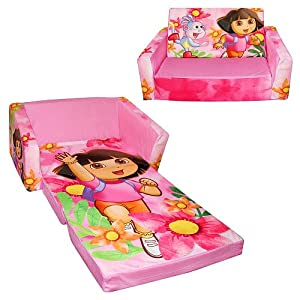 Dora The Explorer And Boots Flip-open Sofa With Slumber - Dora In Yellow Shirtpink Jacket by Spin Master