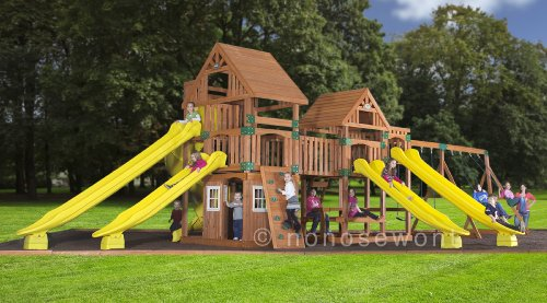 Backyard Discovery Safari All Cedar Wood Playset, Bronze front-243918