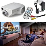 Mini 1080P HD Multimedia LED Projector Home Cinema AV TV VGA HDMI Video (White) by Pinkcoo