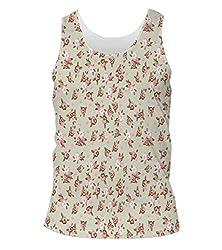 Snoogg English Rose Mens Casual Beach Fitness Vests Tank Tops Sleeveless T shirts