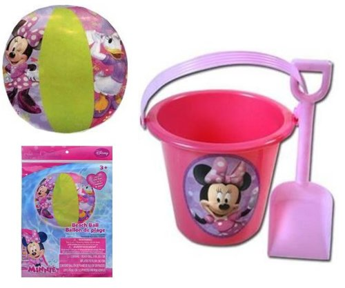 Minnie Mouse Bowtique Sand Bucket and Shovel + Beach Ball Set - 1