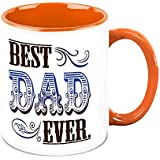 Fathers Day Gift - HomeSoGood Best Dad Ever White Ceramic Coffee Mug - 325 Ml
