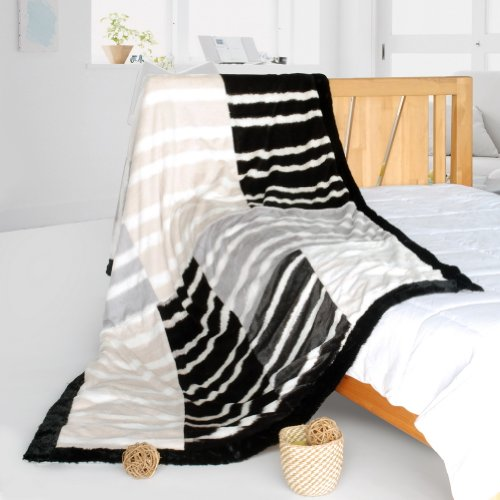 Onitiva - [Stripe Beauty] Patchwork Throw Blanket (61 By 86.6 Inches)