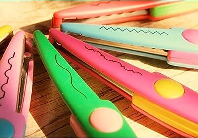 Rimobul Paper Edger Scissors - Set of 6 - Assorted Colors