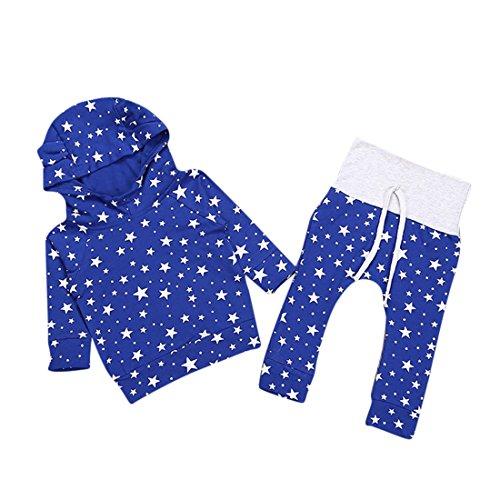 Bambini Abiti,Xinantime Outfit Pentagram con cappuccio T-shirt + Pantaloni lunghi Vestiti (90)