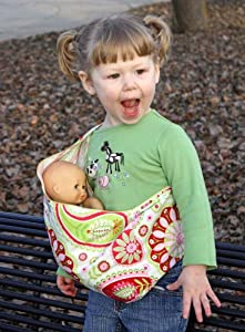 Snuggy Baby Child's Doll Sling Baby Doll Carrier -Strawberry Shortcake