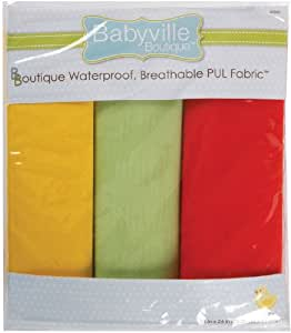 Babyville Boutique Packaged PUL Fabric, Neutral Solids