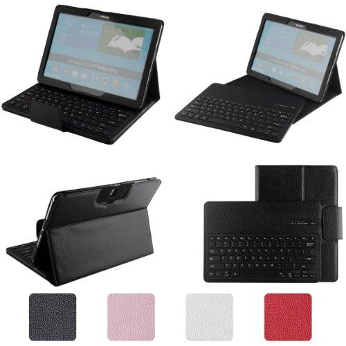 Etopxizu Samsung Galaxy Note Pro & Tab Pro 12.2 Keyboard Case - Detachable Romovable Bluetooth Keyboard Stand Case / Cover For Samsung Galaxy Note Pro & Tab Pro 12.2 Inch Sm-T900 / T905 Tablet - Black