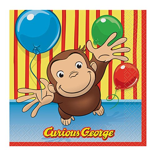 Curious George Beverage Napkins, 16ct