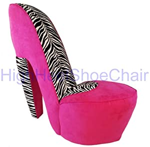 Amazon.com - Zebra and Hot Pink High Heel Shoe Chair - Pink Chair