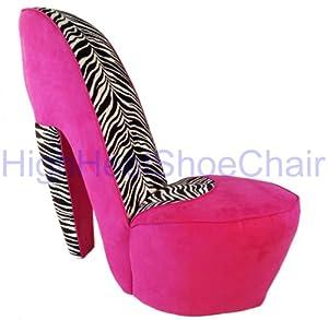 Amazon.com - Zebra and Hot Pink High Heel Shoe Chair - Pink Chair