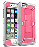 iPhone 6S Case, iPhone 6 Case - E LV Hybrid Armor Protection Defender (INBUILT SCREEN PROTECTOR) Case for iPhone 6S / iPhone 6 [RED MELON / GREY]