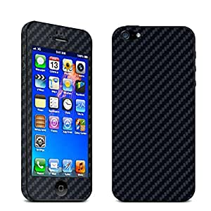 UTLK iPhone 5 /5S Full Body Carbon Fibre Wrap Decal Skin Sticker Protector (for Iphone 5/5S Black)