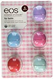New! eos Organic Lip Balm, 5 Pack, Passion Fruit, Blueberry Açaí, Strawberry Sorbet, Sumner Fruit and Sweet Mint