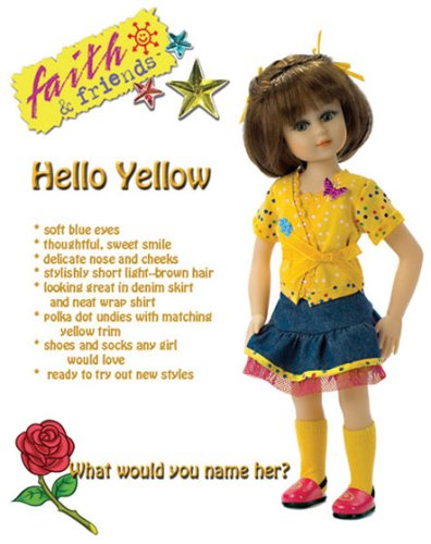 Faith & Friends Hello Yellow - Buy Faith & Friends Hello Yellow - Purchase Faith & Friends Hello Yellow (Mission City Press, Toys & Games,Categories,Dolls,Fashion Dolls)