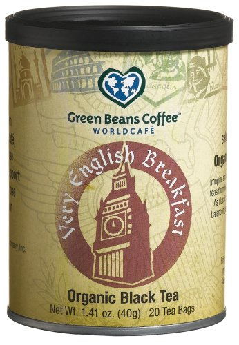 Buy Green Beans Coffee Organic Very English Breakfast Tea, 1.41 -Ounce Tins (Pack of 3) (Green Beans Coffee, Health & Personal Care, Products, Food & Snacks, Beverages, Tea, Black Teas)