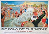The Railway Poster Collection Butlins Campsite in Skegness 1000 piece jigsaw puzzle