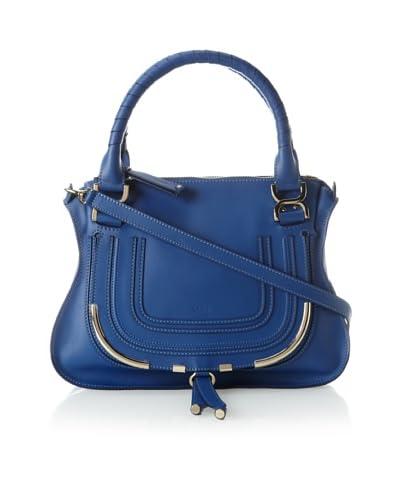 Chloé Women's Marcie Shoulder Bag with Metal Trim, Blue
