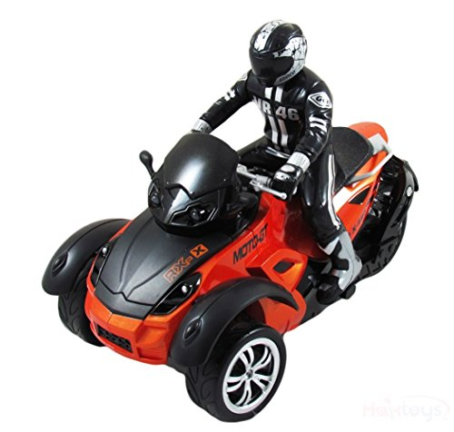 HAK142 MotoHawk Multi-Functional 3 Wheeled ATV Ready-to-Run RC Motorcycle w/ LED Headlights (Orange) (Power Wheel For 5 Year Old compare prices)
