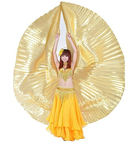 Dreamspell Art Props Gift Egypt Gold Opaque Exotic Big Belly Dance Isis Wings DRSF-01