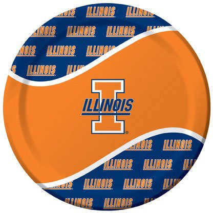 Creative Converting Illinois Fighting Illini Dinner Paper Plates (8 Count)