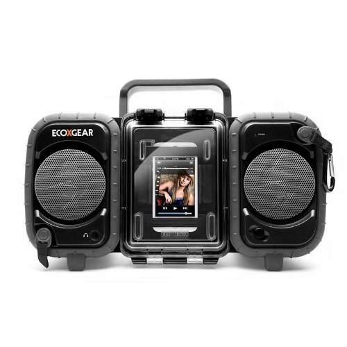 Ecoxgear Rugged And Waterproof Stereo Boombox (Black) Gdi-Aq2Si61