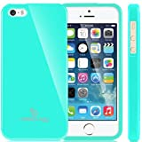 Caseology Apple iPhone 5 / 5S [Retro Flex Series] - Slim Fit TPU Protector Shock Absorbent Bumper Case (Turquoise / Mint) [Made in Korea] (for Verizon, AT&T Sprint, T-mobile, Unlocked)