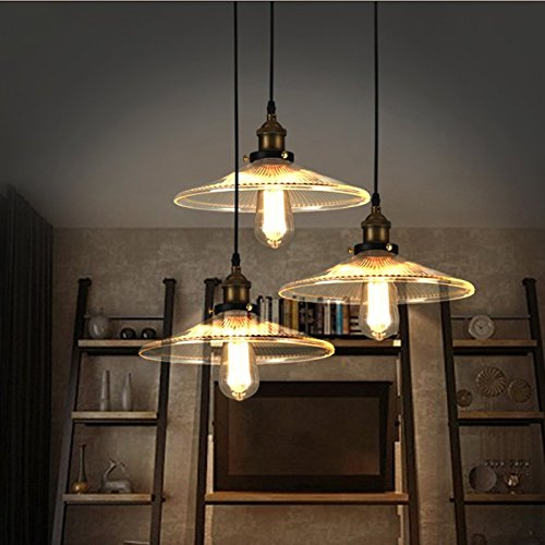 ONEPRE Vintage Industrial Pendant Lights Antique Hanging