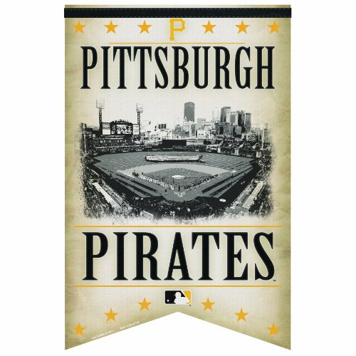 MLB Pittsburgh Pirates Premium Felt Banner 17-by-26 - Stadium